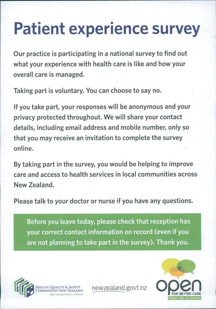 patient experience survey newtown union health service nuhs